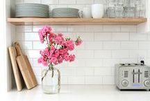 Kitchen Inspiration / kitchen ideas, kitchen inspiration, tile, backsplash, countertops, sinks