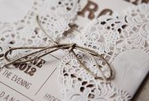 Wedding Stationery / Your wedding invitations are the first part of your wedding your guests see... make them special.