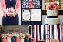 Coral, Navy and White Wedding Styling / Coral, navy and white wedding styling ideas