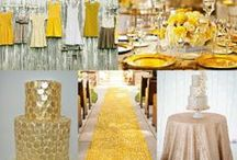 Gold Sparkle and Yellow Wedding Styling / Gold Sparkle and Yellow Wedding Styling