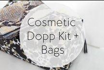 Cosmetic Dopp Kits + Bags