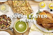 Modern Easter Menu / Sure to impress, this menu includes Easter dinner favorites with a delicious twist.