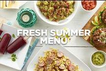 Fresh Summer Menu / This menu offers a fresh take on typical backyard BBQ foods.