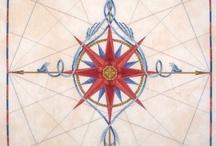 compass  maritima mönster