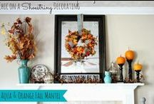 My Fall & Halloween Decorations / Fall and Halloween Decorations done by Chic on a Shoestring Decorating.