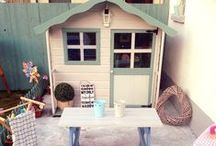 Wooden Playhouse Decoration Ideas / Wooden Playhouse decorating ideas and inspiration for boys and girls. Discover our collection of inspirational wooden playhouse decoration ideas all using our range of playhouses.