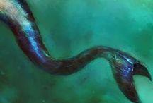 mermaids / People from the sea, selkies, mermaids, merfolk, anyone who can live in the deeps