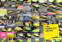 PARK(ING) DAY / 1 Tag. 1 Parkplatz. 1 Aktion. Gelb bloggte und postite zum Internationalen PARK(ing) Day. Und eroberte so öffentlichen PARKraum - ganz konkret: einen PARKplatz am Wienerplatz in München/Haidhausen. Die Idee des kreativen Outlets: Autos nehmen nicht nur Platz. Sie geben auch Raum. Und sind als (Kommunikations-)Medium genauso unmittelbar wie eine Kurznachricht in Internet. Klick-Tipp: http://www.der-ideenladen.cc/index.php/category/der-sonderposten/