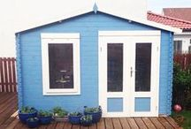 Waltons Log Cabins / A collection of Waltons Log Cabins. Log Cabins are perfect for any garden providing more space. #logcabins #gardenbuilding