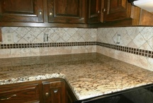 Granite-Dark Cabinets / Granite colors that look great with Dark to black cabinets.