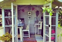 Garden Office Inspiration / Our Waltons Log Cabins and Summerhouses make for perfect home offices. Take a look at this board for some home office inspiration. #summerhouse #logcabin