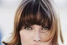 Bobs with Bangs / Long, short and medium length bob hairstyles with bangs.