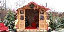 Santa's Grotto Shed / These outdoor Christmas decorations will inspire you to spread the festive joy from your home, into your garden, and even turn the garden shed into a Santa's Grotto.