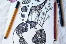 Art / Drawings. Pencili, watercolour, mandalas etc.