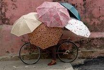 Under the { Umbrellas }