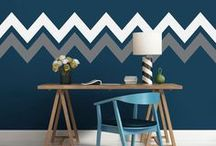 Chevron Room / One of the most popular designs, Chevron is great for nurseries, kids' rooms and grown-up spaces.