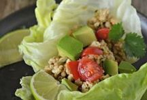 Lettuce Wraps / Recipes featuring lettuce as the wrap or shell or bowl.