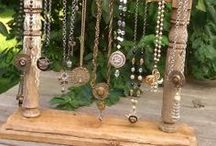 Jewelry Display, Hanging Necklaces, Craft Show Setup, Booth Setup, Jewelry Show, Home / Jewelry Display, Home, Hanging Necklaces, Bracelets, Craft Show Setup, Jewelry Show, Booth Setup, Creative Ways to Display Jewelry, Make Your Own Display