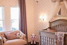Baby Girl Nursery / Adorable baby girl nursery design ideas.