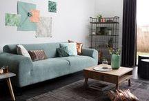 Modern Mint / Zowel in het voorjaar als najaar is mintgroen een stijlvolle toevoeging in elk interieur. Het zorgt voor een frisse wind door de woon-, slaap- en badkamer!