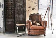 Stijl Studio: Industrial / vtwonen Stijl Studio 'Industrial' heeft een typische loft-sfeer waarin het ambacht hoogtij viert. De combinatie van leder met stof, hout met metaal en steen met wol geeft een aangename sfeer.