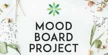 Mood Board Project / A project containing some of our students mood boards for their branding ideas.
