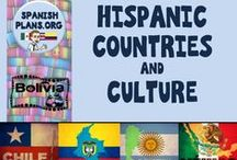 Hispanic Countries and Culture / Infographics and resources about Hispanic Culture