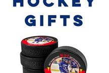 Hockey Gifts / We have exclusive hockey gifts like our Custom Hockey Pucks for any celebration, announcement, or with any message! They make great hockey party gifts, cute wedding or baby announcement gifts, or thoughtful hockey coach gifts.  We also offer custom phone cases, custom apparel, engraved gifts, personalized jewelry, and so much more!  Only at ChalkTalkSPORTS.com!