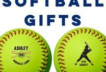 Softball Gifts / We have so many exclusive softball gifts like our Custom Softballs for birthdays, holidays, and so much more! Custom printing softballs is our specialty. A personalized softball makes a very special gift for softball players, an awesome gift for softball fans, and is an easy fundraiser for a team. We also offer mini wood bats, custom apparel, engraved gifts, personalized jewelry, and so much more!  Only at ChalkTalkSPORTS.com!