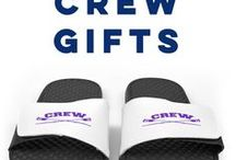 Crew Gifts / Our Crew gifts are guaranteed to make the perfect gift for your next special occasion! Our T-Shirt collection features many exclusive designs for you to choose from! Personalize any crew shirt with your name or number on the back!  We also offer crew flip flops, drinkware, footwear, and so much more to give as the perfect gift to that special rower in your life!  Only from ChalkTalkSPORTS.com!