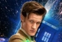 """BBC Doctor Who 11 Matt Smith / With Companions Karen Gillan as Amy Pond, Caitlin Blackwood as Amelia """"Amy"""" Pond, Arthur Darvill as Rory Williams (Pond) & Jenna (Louise) Coleman as Clara (Oswin) Oswald!! and recurring Guest Companion Alex Kingston as River Song!  / by sherlocked221B"""
