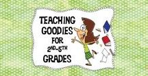 Teaching Goodies for 2nd-5th Grades / Welcome! This board is full of freebies, ideas and paid products just for second through fifth grade teachers! I only have two rules to those who pin here:    1. Post three ideas or freebies/great ideas to each paid product.      2. Post blog ideas or freebies that are timely. No Easter posts at Halloween time. (yes, it has happened).   If you would like to be added to this board as a collaborator, and are willing to follow the two above rules, e-mail me at tomandjanbernard@gmail.com