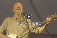 "Pete Seeger  / ""When a crowd joins in on a chorus as though to raise the ceiling higher, then we know there is hope for the world"""