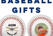 Baseball Gifts / We have so many exclusive baseball gifts like our Custom Baseballs for birthdays, holidays, and so much more! Custom printing baseballs is our specialty. A personalized baseball makes a very special gift for baseball players, an awesome gift for baseball fans, and is an easy fundraiser for a team. We also offer mini wood bats, custom apparel, engraved gifts, personalized jewelry, and so much more!  Only at ChalkTalkSPORTS.com!