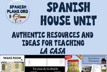 Spanish Casa Unit / Pictures and Resources to use teaching La Casa unit in Spanish class