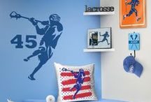 Guys Lacrosse Room Decor / Create a lacrosse theme in any room with our custom lacrosse room decor!  These room decorations will ensure that anyone who steps into your room knows how much of laxer you are.  Lacrosse Room Signs and Door Hangers are perfect for any avid lacrosse player or fan!  We also have removable wall decals, personalized lacrosse frames, and so much more!  All from ChalkTalkSPORTS.com!