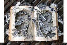 Book Art / Art about books or made with books.
