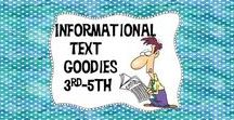 Informational Text Goodies 3rd-5th / Get everything you need to teach informational text! Ideas, videos, resources and lots of freebies!