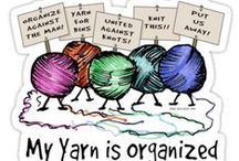 Organize your Crafts / Being organized can help you enjoy your crafting time more!