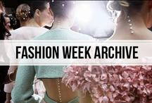 fashion week archive / the archives of fashion week #nyfw #pfw #mfw