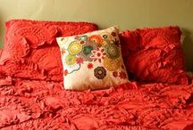 Color board - RED / Red is the color of passion, love, joy, luxury and intimacy. Red pieces > http://applepiepieces.com/collections/red