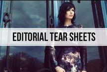 editorial tear sheets  / fall fashion editorial inspiration