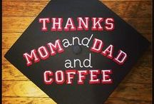 Put Your Thinking Cap On! / Seniors, enjoy these decorative graduation cap ideas as you are preparing for your commencement ceremony. Decorating graduation caps could be a great way to spend time with the people that have become your home-away-from-home family, a way to thank those who've helped you along the way(Thanks Mom and Dad!) or can be used as a way to inquire about a job (So, who is hiring?) Have fun and Congrats Grad! You did it!