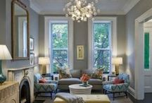 """The Living Room in my homesweetdream home / """"Home is a place you grow up wanting to leave, and grow old wanting to get back to."""" ~ John Ed Pearce / by Robin Michaels"""