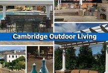 Cambridge Outdoor Living / Create the outdoor living space of your dreams with Cambridge Pavingstones with Armortec. Cambridge offers a variety of pavingstone colors, styles and textures to help you create a one-of-a-kind space. They also offer easy-to-install outdoor living kits that everyone in your family will enjoy! / by Cambridge Pavingstones with ArmorTec