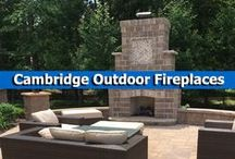 Cambridge Outdoor Fireplaces / Enjoy all the warmth and coziness of an interior fireplace only on your outdoor patio with a complete and fully customizable Cambridge Outdoor Fireplace Kit with everything you need to create the perfect ambience anytime for fireside chats.  / by Cambridge Pavingstones with ArmorTec