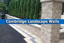 Cambridge Landscape Walls / Landscape wall installations completed using beautiful and durable wall systems from Cambridge Pavingstones with Armortec. / by Cambridge Pavingstones with ArmorTec