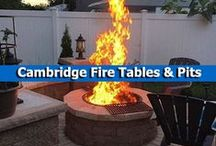 Cambridge Fire Tables & Pits / Dreaming of sitting around a fire pit chatting with friends? Or maybe you'd rather roast marshmallows with your family?  You can do all of that right in your backyard with a fire pit kit by Cambridge Pavingstones with Armortec. / by Cambridge Pavingstones with ArmorTec