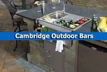 Cambridge Outdoor Bars / Relax with friends and family at a beautiful and customizable outdoor bar from Cambridge Pavingstones with Armortec. Cambridge's outdoor bar kits go perfectly with a Cambridge outdoor kitchen or grill. / by Cambridge Pavingstones with ArmorTec