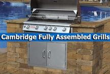 Cambridge Fully Assembled Grills / Cambridge Pavingstones with Armortec's outdoor grill islands are compact, yet versatile, and come complete with all of the components that barbecue enthusiasts desire. / by Cambridge Pavingstones with ArmorTec